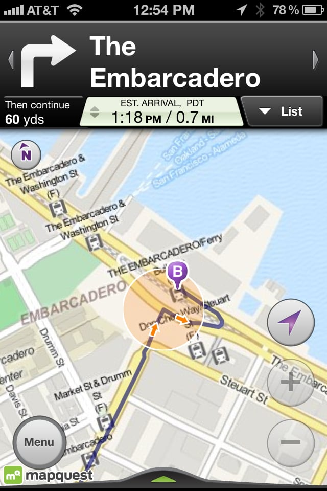 Pro: (Real) ETA and Turn-by-Turn Navigation