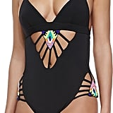 2c86adfc96f79 ... Mara Hoffman Beaded Cutout One-Piece Swimsuit ...