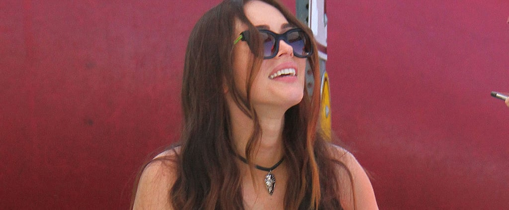 Megan Fox Cools Down With a Snow Cone While Out With Brian Austin Green