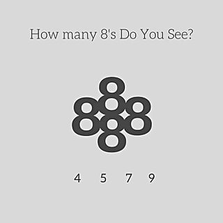 How Many 8s Are in This Photo?