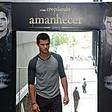 Taylor Lautner posed in Rio de Janeiro.