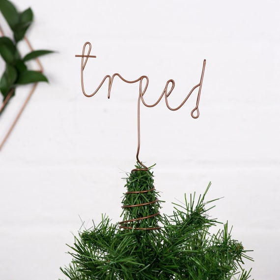 Wired Word Tree Topper