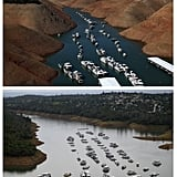 A marina at Lake Oroville.