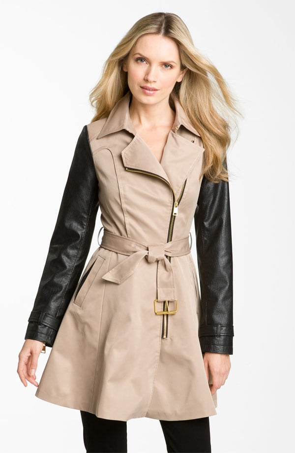 The trench/leather combo is big for the season, and this Bebe Mixed Media Trench Coat ($140, originally $198) hits the nail right on the head.