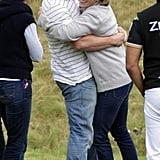 Zara Phillips embraced Mike Tindall while watching a polo game in June 2012 in Tetbury, England.