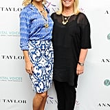 Kate Hudson posed with ANN INC. President and CEO Kay Krill at the Vital Voices Leadership Forum in Washington DC. Source: Carly Otness/BFAnyc.com