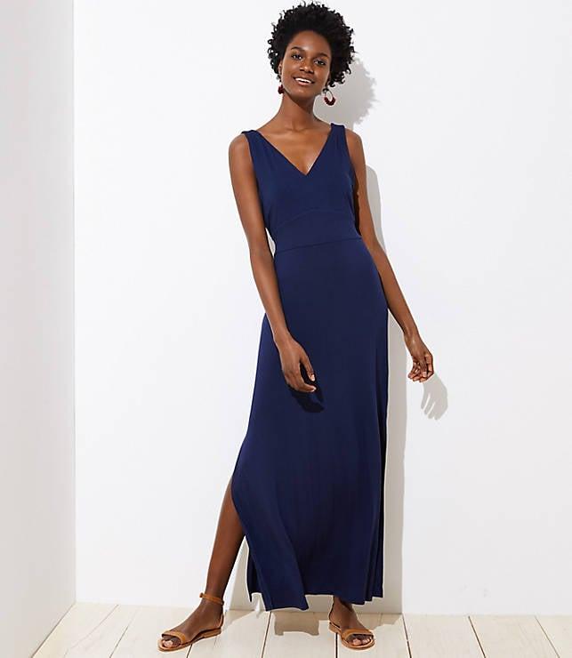 074ed835507 Loft Tie-Waist Maxi Dress