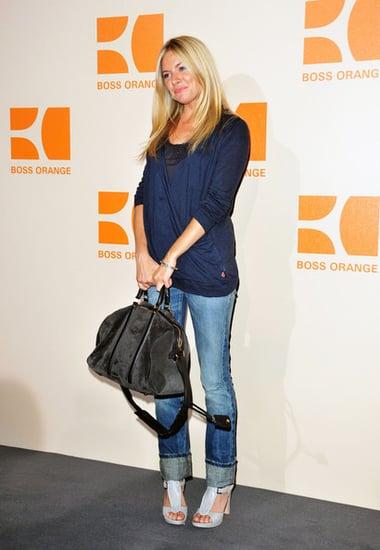 Sienna attends the Hugo Boss Orange Fashion Show