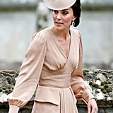 Kate's Fascinator Matched Her Dusty-Rose-Colored Dress