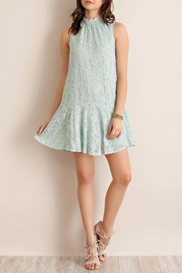 Entro Mint Lace Dress ($48)