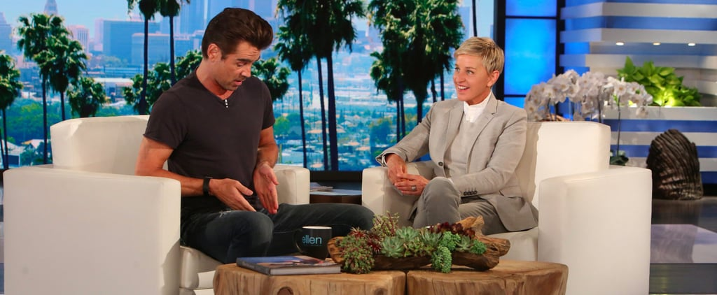 Colin Farrell on The Ellen Show May 2017