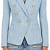 Balmain Cotton-Blend Double-Breasted Blazer