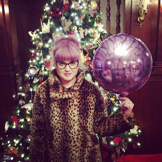 Kelly Osbourne and her family let balloons loose on Christmas Eve. Source: Instagram user kellyosbourne