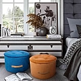 Tov Furniture Velvet Upholstered Luna Ottoman