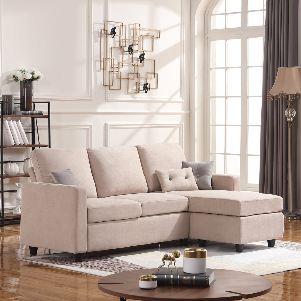 """Sylvette 78.5"""" Reversible Sectional with Ottoman"""