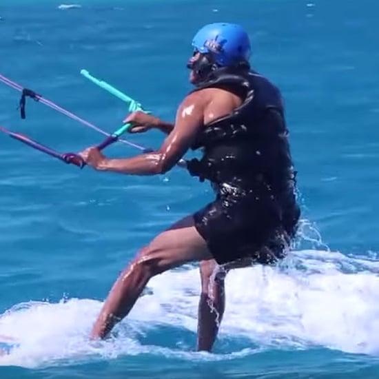 Barack Obama Kitesurfing February 2017