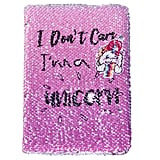 Beinou Reversible Sequins Unicorn Journal