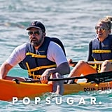 Ben Affleck and Lindsay Shookus Kayaking in Hawaii 2018