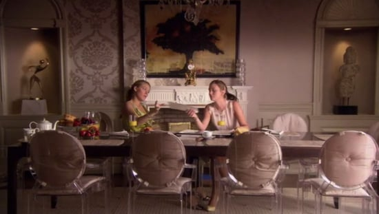 Midday Muse: Cushioned Louis Ghost Chairs on Gossip Girl