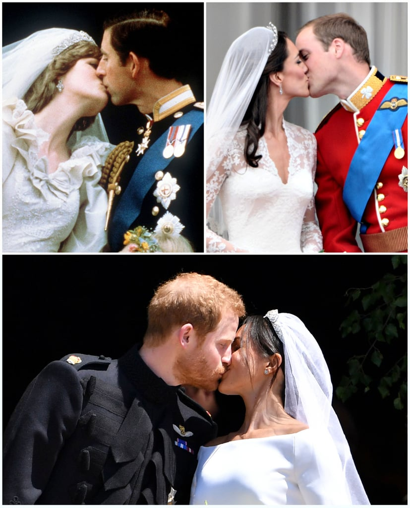 Royal Wedding Kiss.Princess Diana And Prince Charles First Royal Wedding Kiss