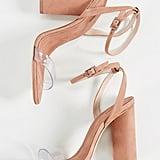 Schutz Geisy PVC Block Heel Sandals
