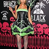 "Katrina Bowden was a dark fairy at a ""Skater Zombies and Surfer Chicks"" costume party during Halloween 2011."