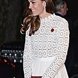 Kate Middleton White Self Portrait Dress Oct. 2016