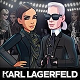 Cartoon Karl and his Fall '15 collection can now be accessed via Kim's game.