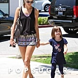 Alessandra Ambrosio and Anja Mazur looked cute and casual while walking in Santa Monica, CA.
