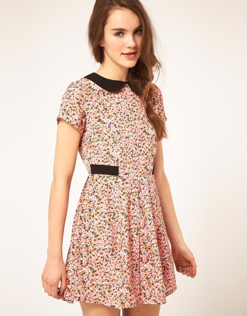 We're smitten with the sweet fit and contrasting collar.  Dahlia Ditsy Floral Dress With Contrast Collar ($86, originally $107)