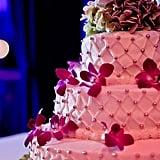 Orchid-Adorned Cake