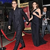 Brad let the way for Angelina.