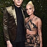 G-Eazy and Halsey at the 2018 iHeartRadio Music Awards