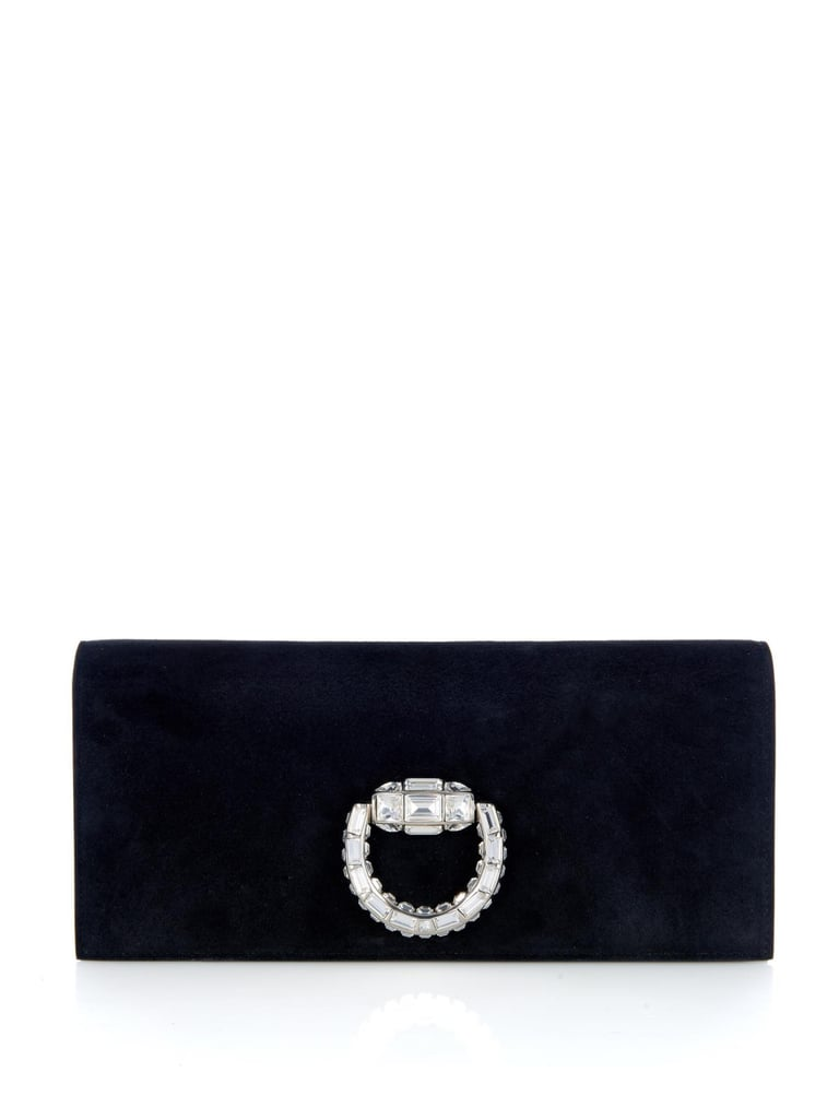 Gucci Broadway Crystal-Embellished Suede Clutch ($1,153)