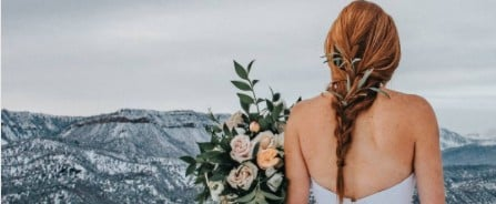 15 Whimsical Hair and Makeup Ideas For the Winter Bride