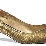 Sam Edelman Laura Metallic Embossed Mid Heel Pumps ($110)