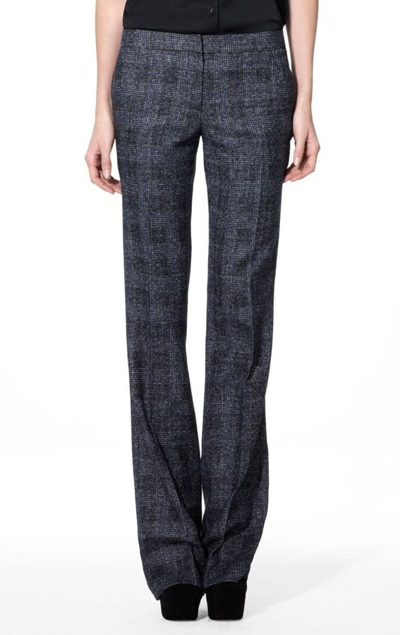 Theory Yadie Checkered Wool-Blend Pant, $455