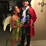 Tinker Bell and Captain Hook From Peter Pan