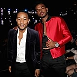 Pictured: John Legend and Trevor Jackson