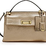 Henri Bendel Modern Icon Top Handle Metallic Satchel