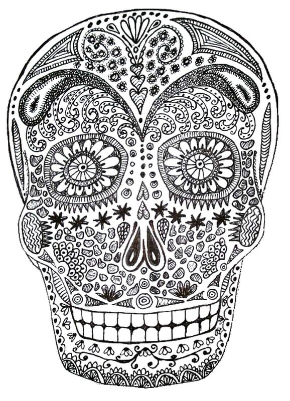 Get the coloring page: skull