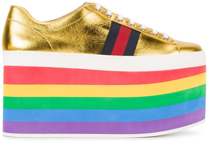 Just try and find a platform higher than the one on Gucci's Rainbow Sneakers ($950).