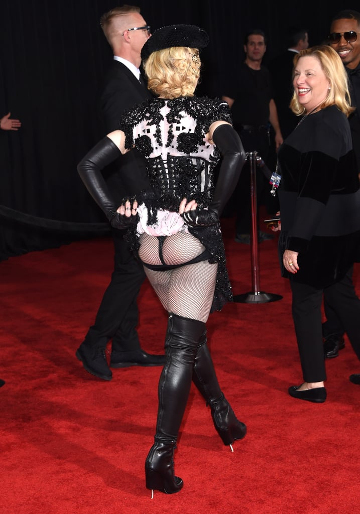 Madonna Literally Mooned the Entire Grammys Red Carpet