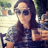 Whitney Cummings wore flip-up shades while hanging in Ojai, California. Source: Instagram user whitneyacummings