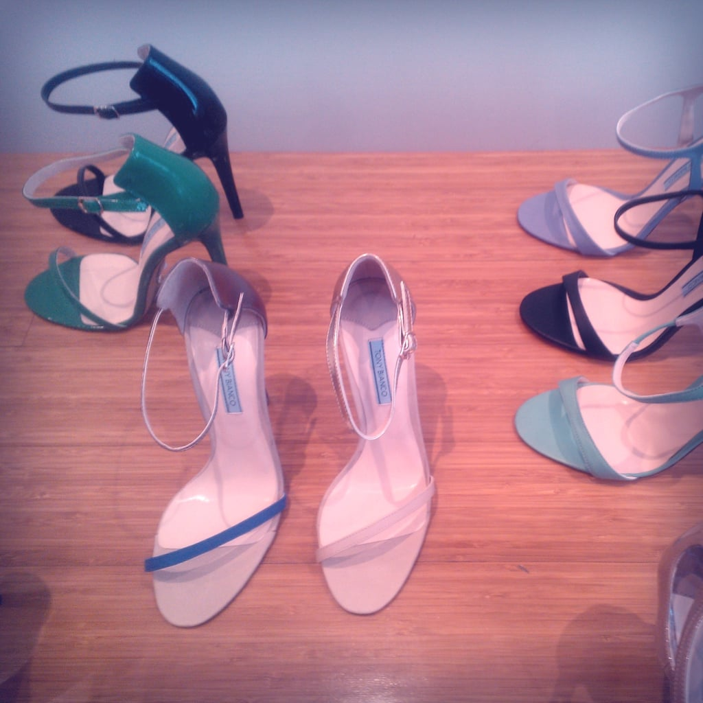 The now iconic/snapped-on-every-blogger/amazing Karissa heels gets a new season makeover in new colour ways via the Ambrose. Front left has a pewter heel = slightly ridic!