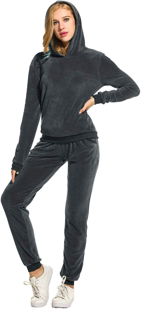 Hotouch Solid Velour Sweatsuit Set
