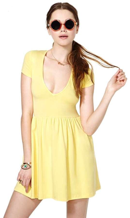 Nasty Gal Yellow Dress