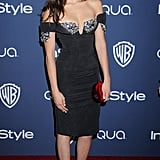 Nina Dobrev in a Sexy Dress . . .