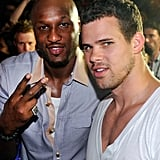 Lamar Odom joined in the fun with Kris Humphries.