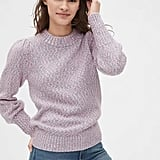 A Puff Sleeve Crewneck Sweater ($65) is the perfect pick for the one who's always on top of fashion trends; sleeve details are very in right now and will play nicely with a pair of wide-leg jeans or the like.